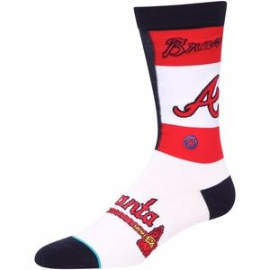 Atlanta Braves Pop Fly Crew Socks
